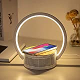 led desk lamp, blue tooth speaker with wireless charging led lights for bedroom bluetooth fast