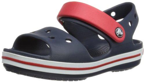 Crocs Crocband Sandal Kids, Sandalias Unisex Niños, Azul (Navy/Red), 27/28 EU