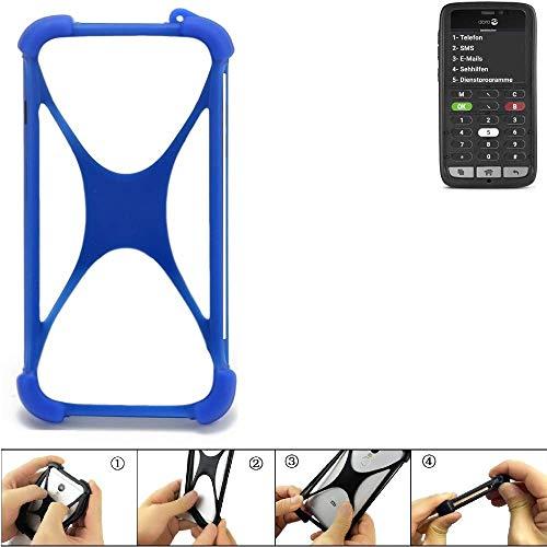 K-S-Trade® Handyhülle Für Doro 8031C Silikon Schutz Hülle Cover Case Bumper Silikoncase TPU Softcase Schutzhülle Smartphone Stoßschutz, Blau (1x),