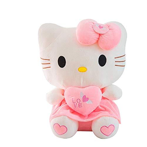 Lindo Hello Kitty Peluche De Juguete Decoración para El Hogar Muñeca Peluche Peluche Animal Regalo De Cumpleaños De San Valentín (30-100Cm),Rosado,40cm