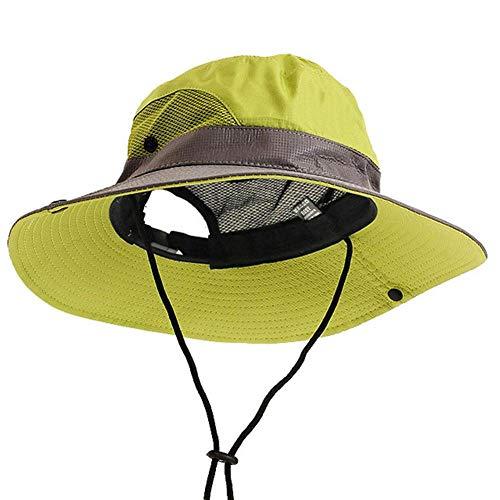 Bucket Hat Chapeau Camping Décontracté Activités De Plein Air Hommes Femmes Escalade Respirant Pêche Polyester Casquette Seau Chapeau Réglable Maille Voyage Vert