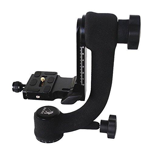Andoer BK-45 Professionelle Gimbal Stativkopf für Kamera Teleobjektiv Schnellwechselplatte 360 ° Rotation