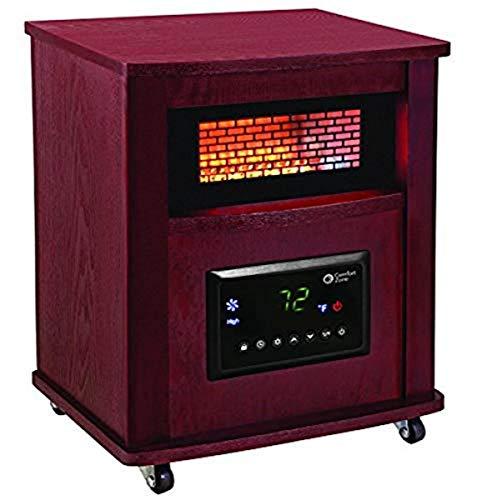 Comfort Zone CZ2032C Infrared Quartz Wood Cabinet Heater, 16', Cherry