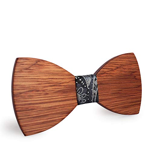 Tie Freizeit Minimalismus Persönlichkeit Business Männer Fliege Holz Krawatte Knoten Samt Fliegen 16 * 8 * 2 cm