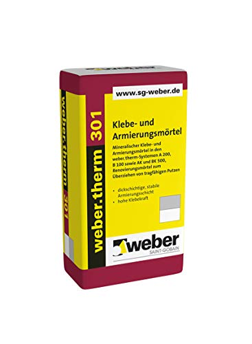 Weber.therm 301 Klebe- und Armierungsmörtel Klebemörtel Armierungsmörtel Armierungskleber Fassadenkleber Dämmstoffkleber