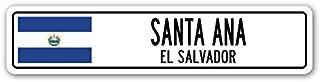 Santa ANA, EL Salvador Street Sign Salvadoran Flag City Country Road Wall Gift