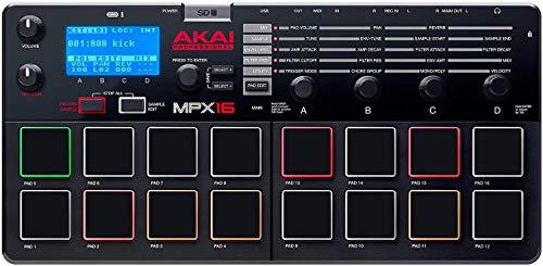AkaiProfessionalサンプラー16パッドSDカードスロットMPX16