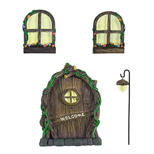 JelyArt Escultura de resina, estatua de ventana 3D para jardín, jardín, decoración de jardín, adorno para interior y exterior