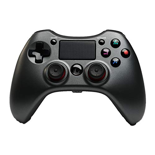 PS4 Controller Wireless, PS4 Remote Gamepad con Touchpad para PS4 PS3 PC Android,Negro