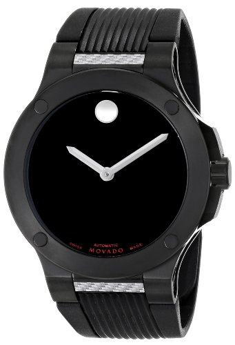 Movado SE Extreme Black Rubber Automatic Mens Watch 0606492