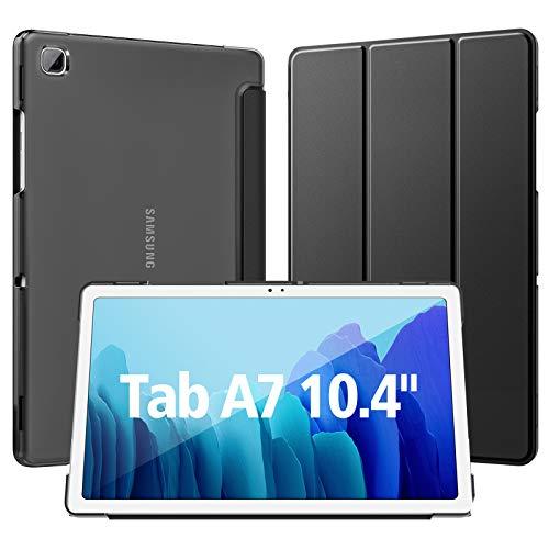 Dadanism Hülle für Samsung Galaxy Tab A7 10,4 Zoll 2020 (SM-T500/T505/T507), Transluzent PC Schutzhülle für Galaxy Tab A7, Samsung Tab A7 Hülle mit Auto Schlaf/Weck - Schwarz