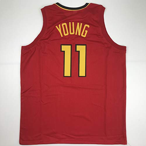 Unsigned Trae Young Atlanta Red Custom Stitched Basketball Jersey Size Men's XL New No Brands/Logos