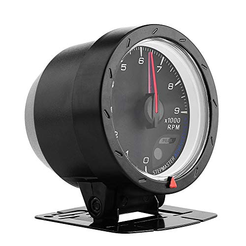 Tacómetro de 12V 9000 rpm, Tacometro Retroiluminacion Digital de 60 mm con Soporte