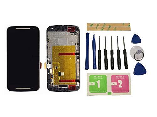 Flügel für Motorola Moto G2 XT1063 XT1068 XT1069 Display LCD Ersatzdisplay Schwarz Touchscreen Digitizer Bildschirm Glas Komplett Einheit mit Rahmen Ersatzteile & Werkzeuge & Kleber