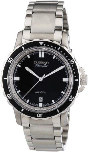 Dugena Herren-Armbanduhr XL Premium Analog Quarz Edelstahl 7000013