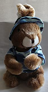 Dan Dee Collector Choice Lop Eared Bunny Dressed in Blue Camouflage 12in Plush Doll