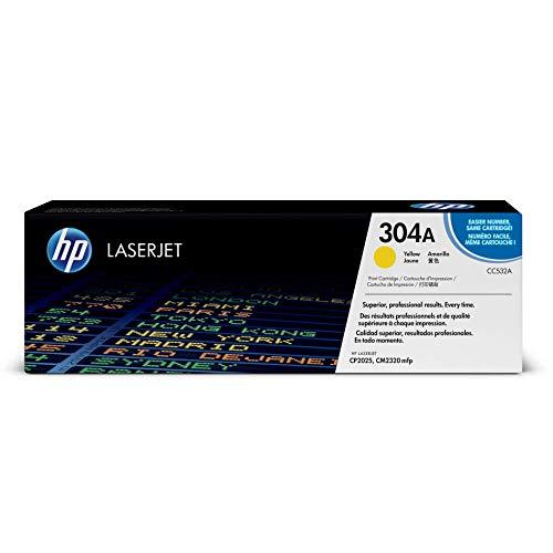 HP 304 - Cartucho de tóner Original HP 304A Amarillo para HP Color ...