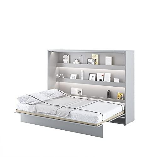 LENART Lit escamotable Bed Concept Horizontal 140 x 200 Gris Satin