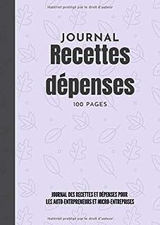 Journal des recettes et dépenses pour vos opération financierès.