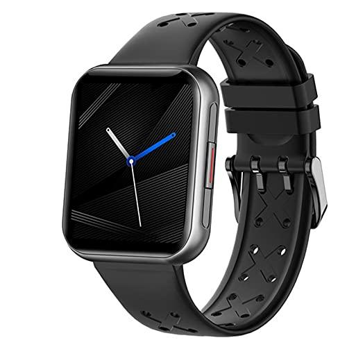 QLK 2021 Smart Watch Uomo Uomo 1.7 Pollici IP68 Impermeabile Full Touch Orologio Cuore Rate Monitor Bluetooth Impermeabile Sport Smartwatch Uomo per Android iOS,B