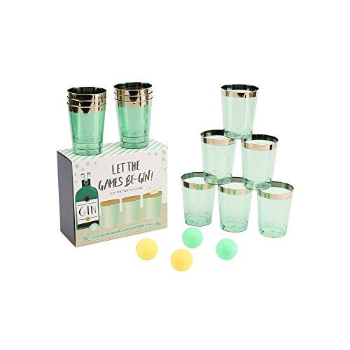 CGB Giftware Gin Pong Trinkspiel (Einheitsgröße) (Mintgrün)