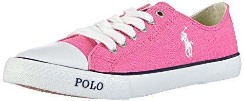 Polo Ralph Lauren Carson, Baskets Basses Femme, Rose-Pink (Blaze Fuchsia Canvas/White), 40 EU