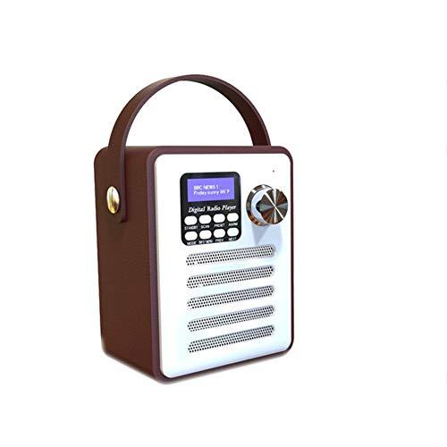 C- Digitales Bluetooth-FM-Radio Multifunktions-MP3-Player Hölzerner Radiowecker Tragbarer Retro-Bluetooth-Lautsprecher USB/TF