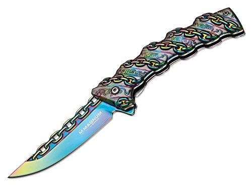 Magnum Chained Rainbow Taschenmesser Regenbogen, Klingenlänge: 9,1 cm, 01MB635