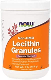 Lecithin, GRANULES NON-GMO, 1 Lb Cannister by Now Foods (Pack of 8)