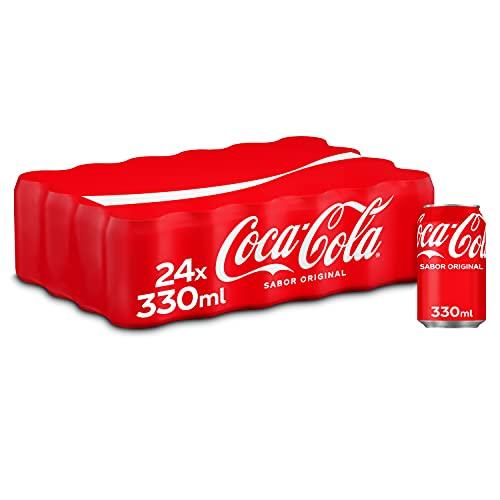 Coca-Cola Sabor Original - Refresco de cola - Pack de 24 latas 330 ml