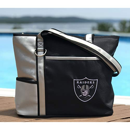 NFL Oakland Raiders Tote Bag with Embroidered Logo