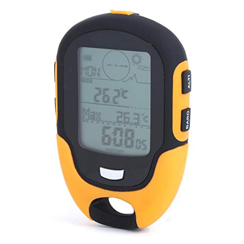 Redxiao Silikon-Auto-Höhenmesser, Multifunktionskompass, Multifunktions-Höhenmesser, für Reisen Wandern im Freien Klettern Camping