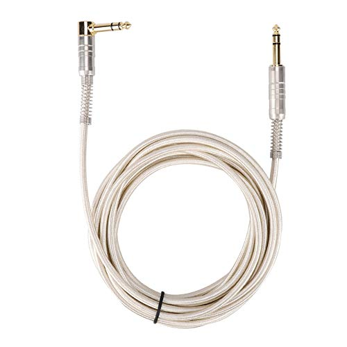 Audiokabel, 6,35 mm rechte kop man-man naar 90 graden elleboog stereo verlengkabel audiokabel connector draad voor elektrische gitaar, microfoon, versterker, enz(5M)