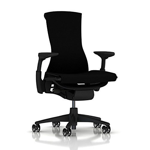 Herman Miller Embody Ergonomic Office Chair | Fully Adjustable Arms and Translucent Casters | Black Rhythm