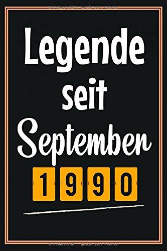 Legende seit September 1990: Geschenkideen frauen Männer geburtstag 30 jahre, Geburtstagsgeschenk für Schwester Bruder Freunde mann, Notizbuch a5 liniert softcover