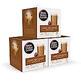 Exclusivo Nescafé Dolce Gusto Café con Leche, Pack de 3 x 16 Cápsulas - Total: 48 Cápsulas...
