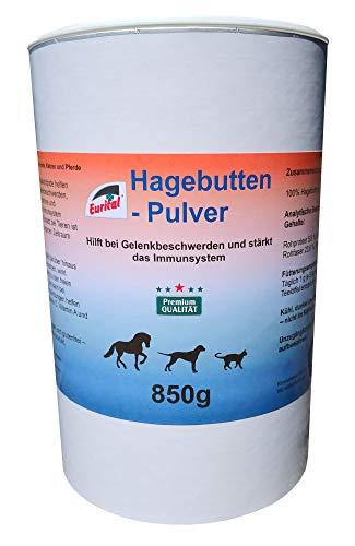 Eurital Hagebuttenpulver 850g für Hunde, Katzen und Pferde - hilft bei Gelenkbeschwerden und stärkt das Immunsystem