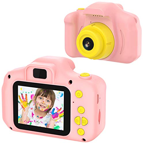 VATENIC Kids Toys Birthday for 3-10 Year Old Boys Girls, Kids Camera 1080P 2inch HD Children Digital Cameras for Girls,Toddler Camera for 3-9 Year Old Boy (with 32G SD Card) (Pink)