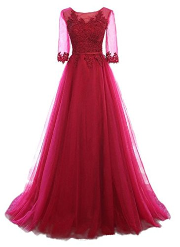 Vickyben Vickyben Damen A-Linie langes Schnuerung Prinzessin Tuell Abendkleid Ballkleid brautjungfer Cocktail Party kleid