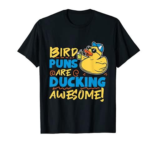 Divertido pato de goma con gafas de sol Camiseta