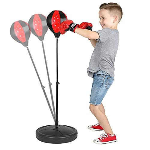 GAOword Boxsack-Set Für Kinder - Standfuß Mit Verstellbarem Ständer + Handpumpe - Das Bevorzugte Geschenk Für Jungen Und Mädchen Im Alter Von 3-8