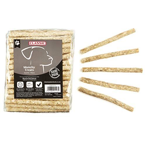 CLASSIC Munchy Roll Hunde Snacks (100Stk/Packung) (Einheitsgröße) (Natur)