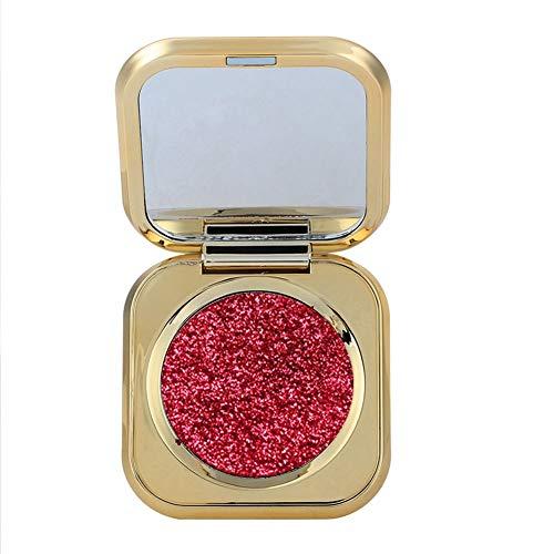 6 Colores Sombra de ojos perla brillante, Pigmento de ojos, resaltador y polvo de sombreado(02)