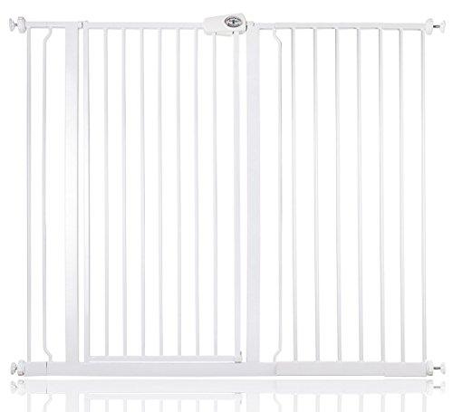 Bettacare barrière d'escalier enfant et animal de compagnie 75cm - 147.8cm (127cm - 134cm, Blanc)