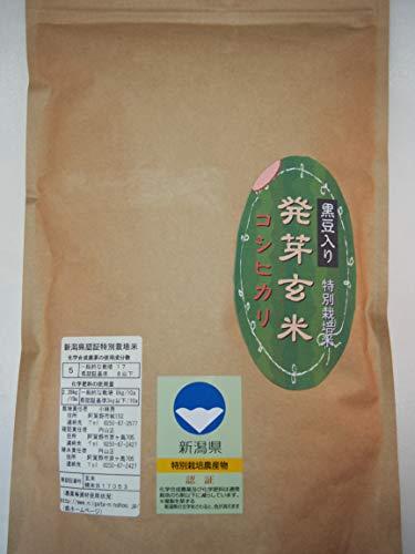 新潟県産 特別栽培米 発芽玄米 ミルキークイーン(黒豆入り) (20kg(5kg*4)) 令和元年産