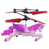 D/ébutant RC H/élicopt/ères Quadcopter Drone de Poche Mouvement Main contr/ôl/ée Drone avec Lumi/ère LED Cadeaux pour Enfants Rouge Taipow Mini UFO Drone Flying Jouets pour Enfants