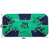 LIHUAN Mantel Texas Holdem Almohadilla De Goma Mantel De 1.8m,Green