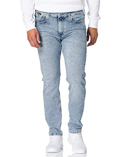 Calvin Klein Jeans Slim Taper Jeans, Denim Light, 38W / 32L Uomo