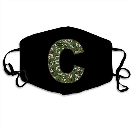 Funny Letters C Dust Masks,Breathable Adjustable Windproof Masks. Black