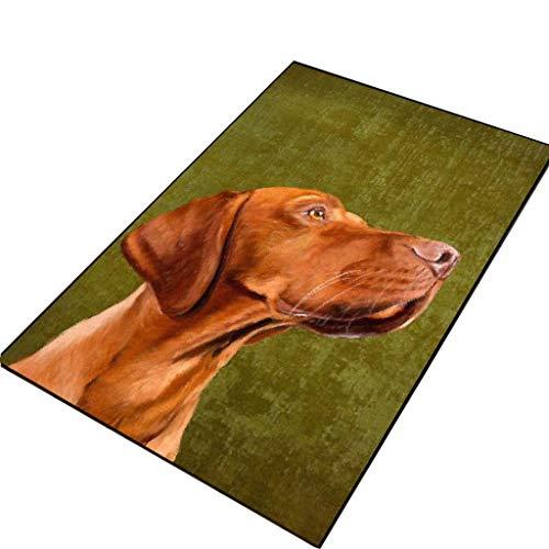 Met Love Tapis de sol absorbant antidérapant pour salle de bain, cuisine, chambre à coucher Motif chien de dessin animé 80 x 120 cm